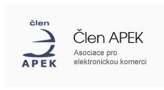 Člen APEK - Asociace pro elektronickou komerci
