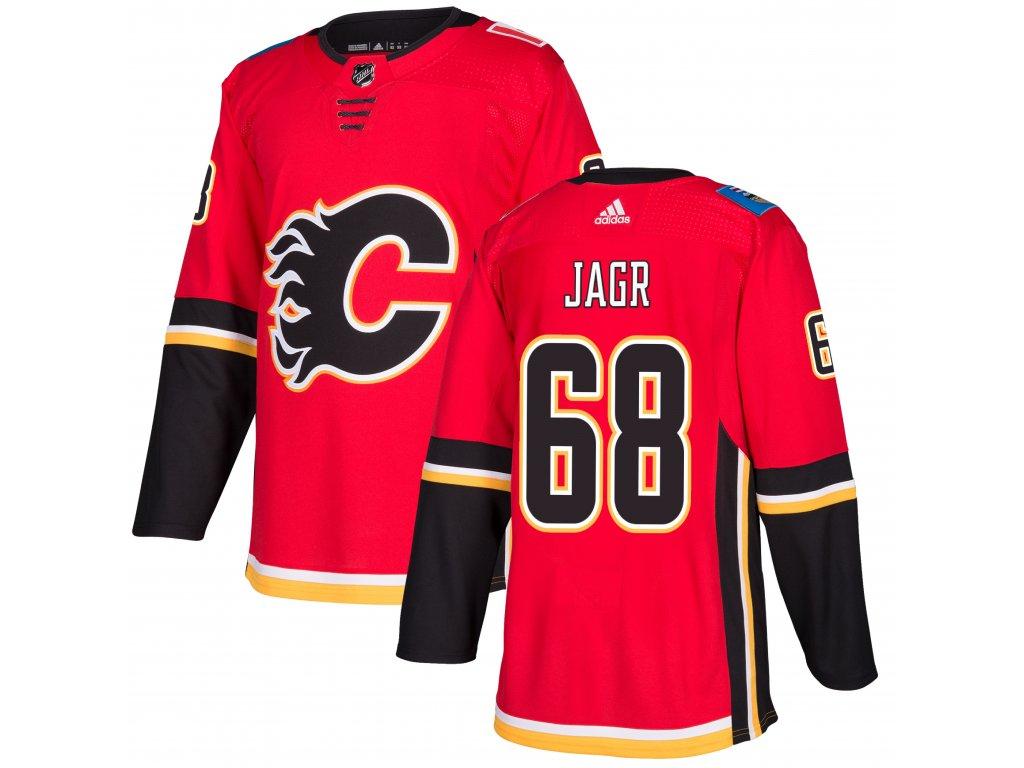 Adidas Dres Jaromir Jagr #68 Calgary Flames adizero Home Authentic Pro Velikost: 50 (L), Distribuce: USA