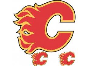 Logo na stěnu - Peel and Stick - Calgary Flames