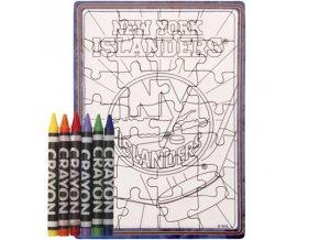 New York Islanders puzzle s vlastním vybarvením
