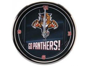 NHL nástěnné hodiny Florida Panthers Chrome Wall