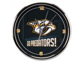 NHL nástěnné hodiny Nashville Predators Chrome Wall