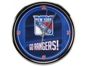 NHL nástěnné hodiny New York Rangers Chrome Wall