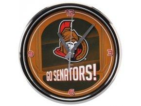 NHL nástěnné hodiny Ottawa Senators Chrome Wall