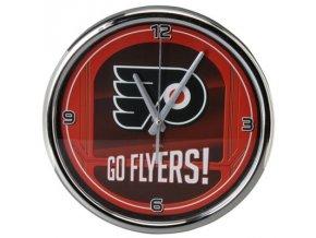 NHL nástěnné hodiny Philadelphia Flyers Chrome Wall