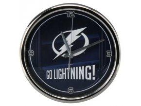 NHL nástěnné hodiny Tampa Bay Lightning Chrome Wall