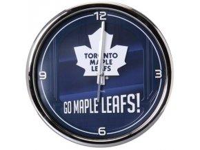 NHL nástěnné hodiny Toronto Maple Leafs Chrome Wall