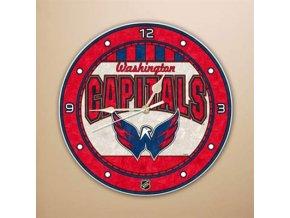 NHL nástěnné hodiny Washington Capitals Art Glass Wall