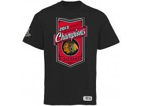 NHL Tričko Chicago Blackhawks 2013 Stanley Cup Champions černé