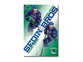 Plakát - Vancouver Canucks SEDIN BROS