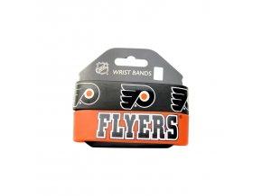 Silikonový náramek - Philadelphia Flyers - 2 kusy