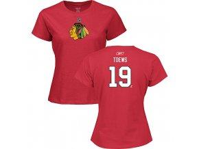 Tričko - #19 - Jonathan Toews - Chicago Blackhawks - dámské