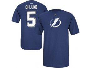 Tričko - #5 - Mattias Ohlund - Tampa Bay Lightning - modré