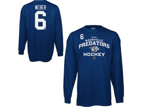 Tričko - #6 - Shea Weber - Nashville Predators - Authentic - dlouhý rukáv
