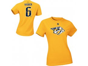 Tričko - #6 - Shea Weber - Nashville Predators - žluté - dámské