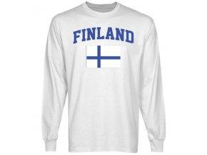 Tričko - Finland Flag - dlouhý rukáv
