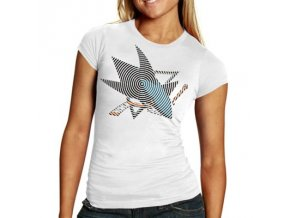 Tričko -White Spiro Foil Logo - San Jose Sharks- dámské