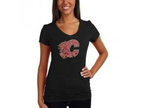 Tričko Calgary Flames Sequin Logo - dámské
