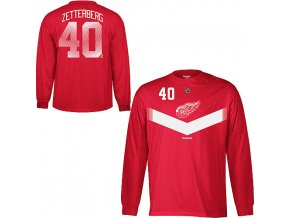 "Tričko Henrik Zetterberg #40 Detroit Red Wings ""Howitzer"""