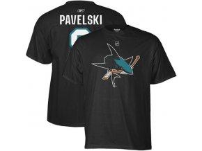 Tričko Joe Pavelski #8 San Jose Sharks - černé