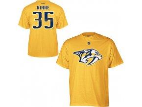 Tričko Pekka Rinne #35 Nashville Predators - žluté
