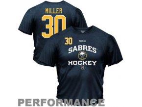 Tričko Ryan Miller#30 Buffalo Sabres Authentic Team Hockey Heathered Speedwick