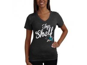 Tričko San Jose Sharks Shelf Tri-Blend - dámské