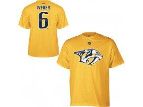 Tričko Shea Weber #6 Nashville Predators - žluté