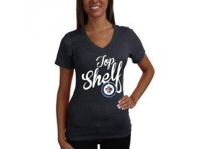 Tričko Winnipeg Jets Shelf Tri-Blend - dámské