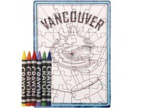 Vancouver Canucks puzzle s vlastním vybarvením
