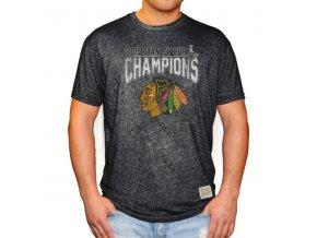 Tričko Chicago Blackhawks 2015 Stanley Cup Champions Mock Twist