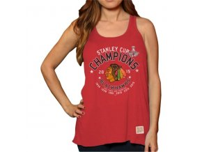 Dámský top Chicago Blackhawks 2015 Stanley Cup Champions Relaxed Tank