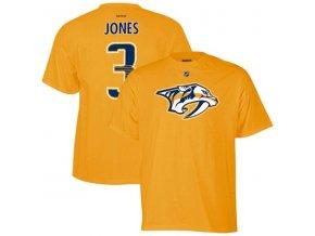 Tričko Seth Jones #3 Nashville Predators - žluté