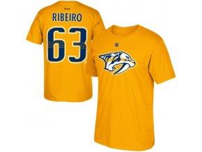 Tričko Mike Ribeiro #63 Nashville Predators - žluté