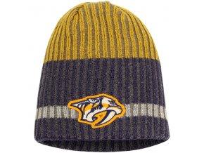 Zimní čepice Nashville Predators Reebok Face-Off Heathered Knit Beanie