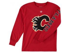 Dětské tričko Calgary Flames Old Time Hockey Two Hit Long Sleeve