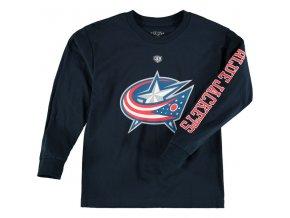 Dětské tričko Columbus Blue Jackets Old Time Hockey Two Hit Long Sleeve
