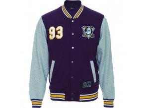 Bunda Anaheim Ducks Majestic Fleece Letterman Jacket