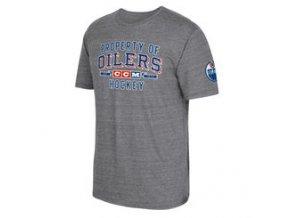 Tričko Edmonton Oilers CCM Property Block Tri-Blend