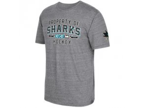 Tričko San Jose Sharks CCM Property Block Tri-Blend