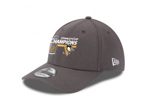 Kšiltovka Pittsburgh Penguins 2016 Stanley Cup Champions 39THIRTY Charcoal