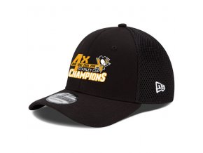 Kšiltovka Pittsburgh Penguins 2016 Stanley Cup Champions 4-Time 39THIRTY Flex