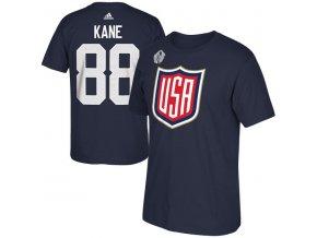Tričko #88 Patrick Kane Team USA Player Světový pohár 2016