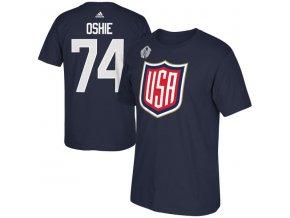 Tričko #74 T. J. Oshie Team USA Player Světový pohár 2016