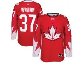 Dres #37 Patrice Bergeron Team Canada Světový pohár 2016