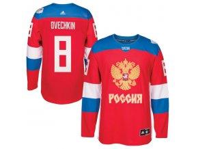 Dres #8 Alex Ovechkin Team Russia Světový pohár 2016