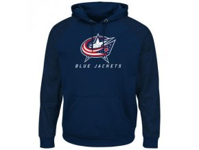 Mikina Columbus Blue Jackets Majestic Penalty Shot Therma Base Hoodie