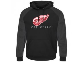 Mikina Detroit Red Wings Majestic Penalty Shot Therma Base Hoodie Black