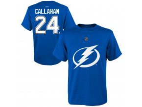 Dětské tričko Ryan Callahan Tampa Bay Lightning NHL Name & Number (Velikost Dětské L (11 - 12 let), Distribuce USA)