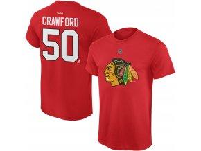 Dětské tričko Corey Crawford Chicago Blackhawks NHL Name & Number (Velikost Dětské L (11 - 12 let), Distribuce USA)